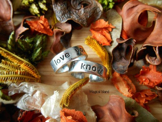 I Love You I Know Star Wars Set Of 2 Two Rings by Magicalisland