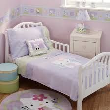 Dazzling Hello Kitty Inspired Kids Room Designs : Adorable Lilac Hello  Kitty Inspired Kids Room Design with Minimalist White Frame Bed and H.