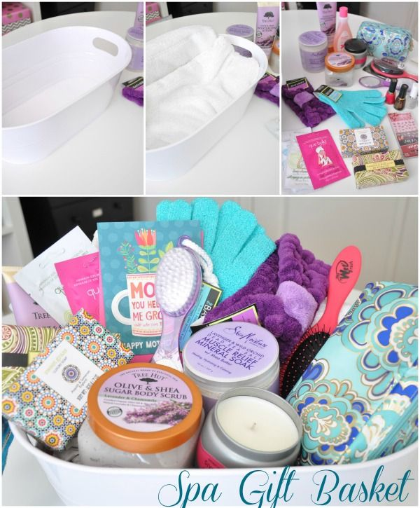 Mother's Day Gift Idea // Spa Basket | Spa basket, Spa and Gift