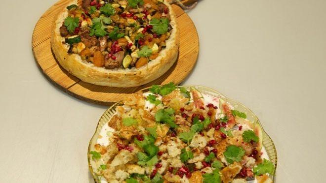 Gevuld Arabisch brood met granaatappelyoghurt - recept | 24Kitchen