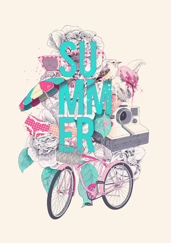 Summer by Ariana Perez, via Behance