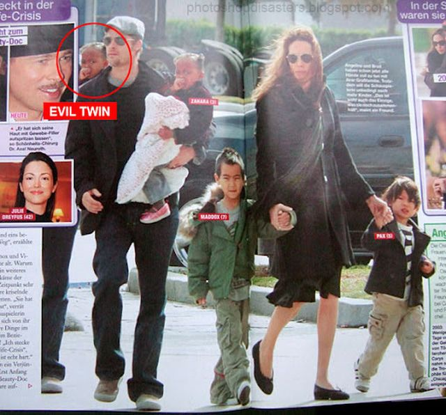 10 Worst Celebrity Photoshop Disasters Ever: Zahara Jolie-Pitt: We're Seeing Double