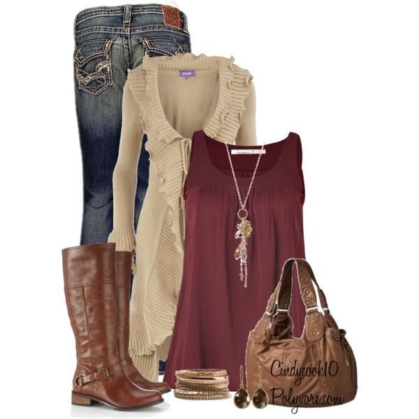 I love the long sweater (no preference in color) and could use a nice sleeveless blouse to go underneath.