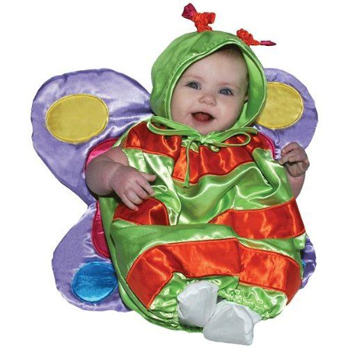 AM PM Kids Baby Girls Butterfly Costume GreenOrangePurple One Size