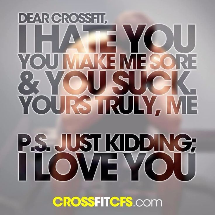 How I feel during...and then after a WOD. Lol.