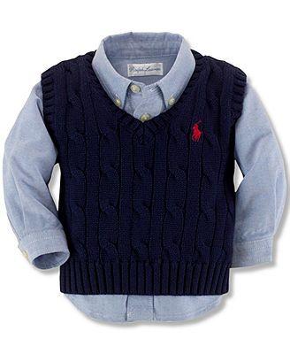 Polo Ralph Lauren Baby Boys' Cable Knit Vest