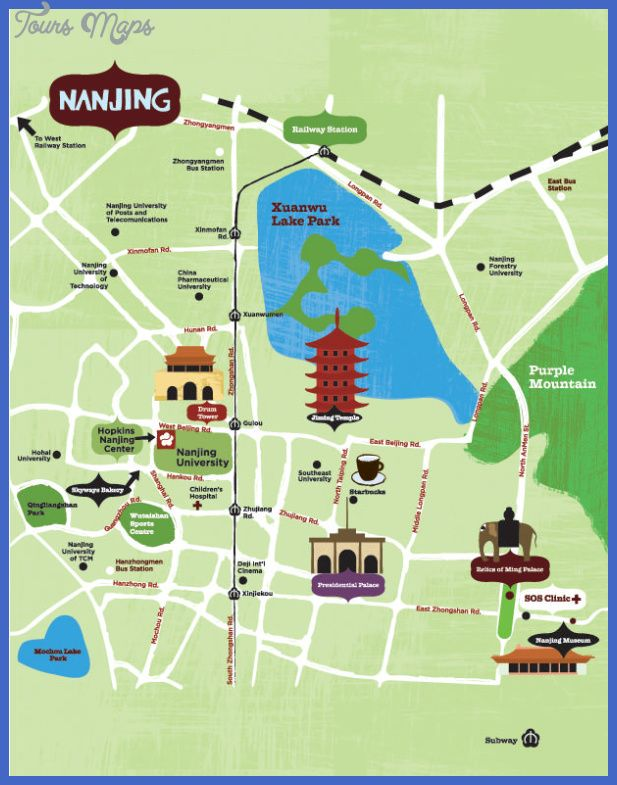 cool Nanjing Map Tourist Attractions