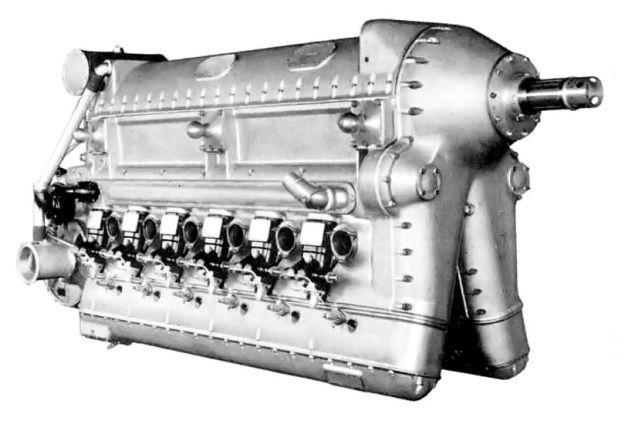 Deschamps Diesel Aircraft Engine   Front