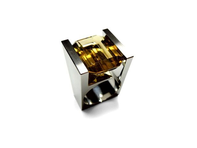 Can jewelry be considered art? Absolutely. Fourth generation Mexican jeweler Iker Ortiz has designed some beautiful architecture-inspired rings made of sta