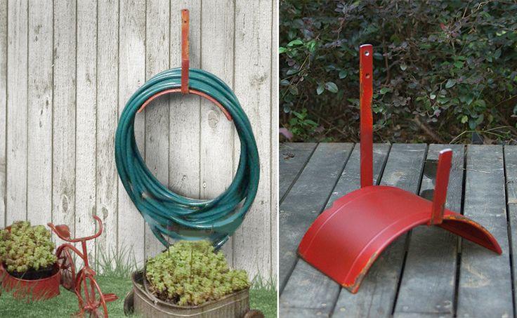 Rustic Garden Hose Reel