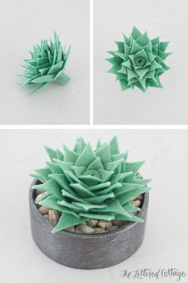 the lettered cottage How To Make A Faux Succulent http://theletteredcottage.net/how-to-make-a-faux-succulent/ via bHome https://bhome.us