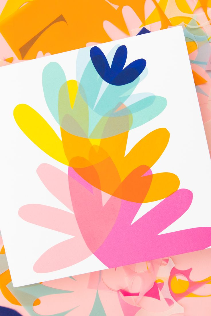 Celebrate @FiskarsAmericas 50th anniversary of their iconic Orange-handled Scissors by making your own colorful vellum wall art.
