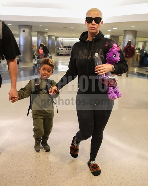 Amber Rose Sighted at LAX Airport in Los Angeles on October 19 2017
