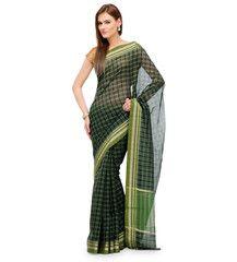 Green Banarasi Chanderi Cotton Saree | Fabroop USA | $27.99 |