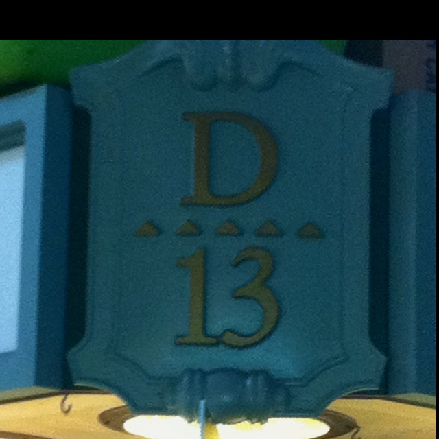D...for Desiree? :-).... Lucky Number 13, a perfect match