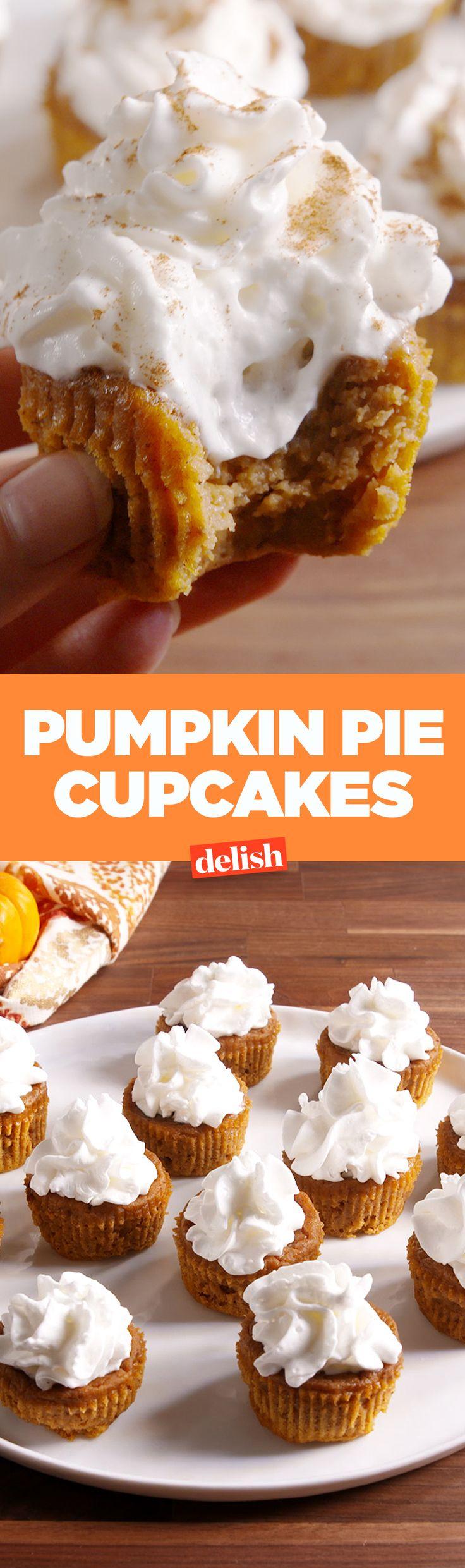 Thanksgiving cupcake decorations - Pumpkin Pie Cupcakes