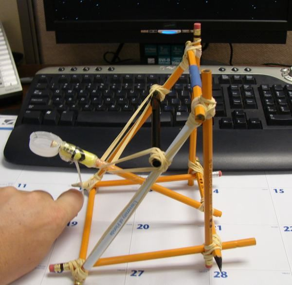 office supply catapult  - also has link to a trebuchet :)