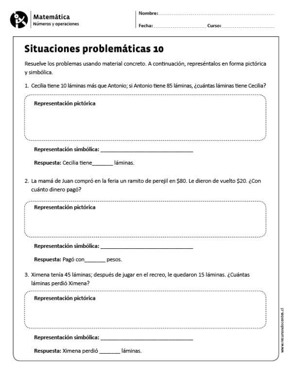Situaciones problemáticas 10