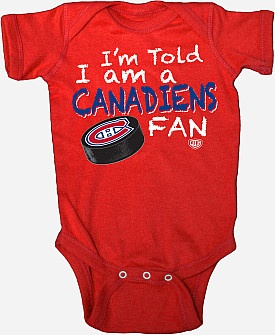 Canadiens creeper - it's never too early to become a Habs fan!