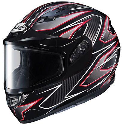 HJC CS-R3 Spike Framed Dual Lens Helmet Red Lg