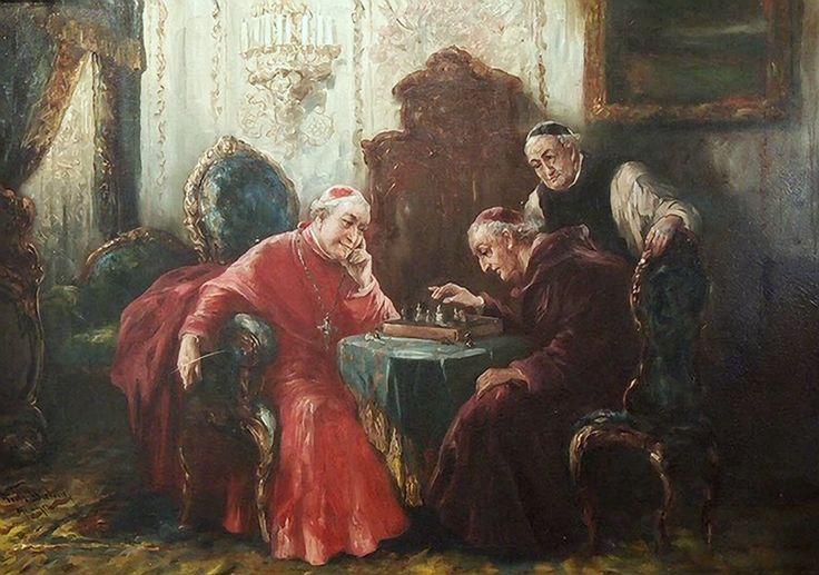 Dietrich, Fritz - Clerics Playing Chess (Geistliche Beim Schachspiel) -2b