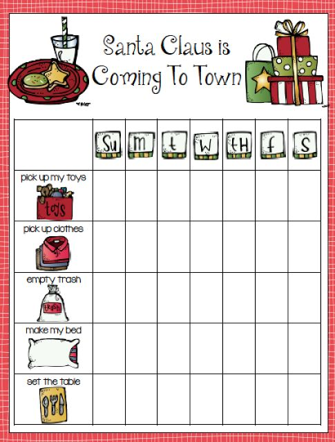 Christmas Behavior Incentives