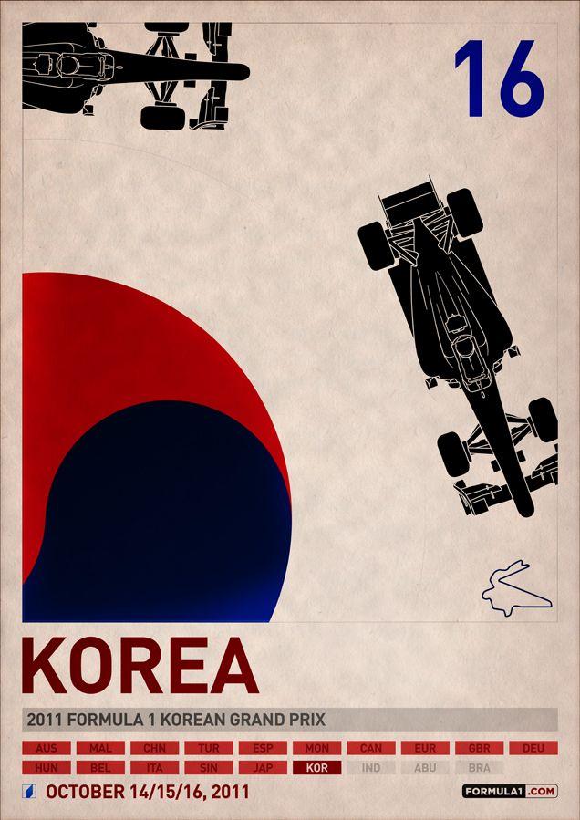 2011 F1 Korea Poster