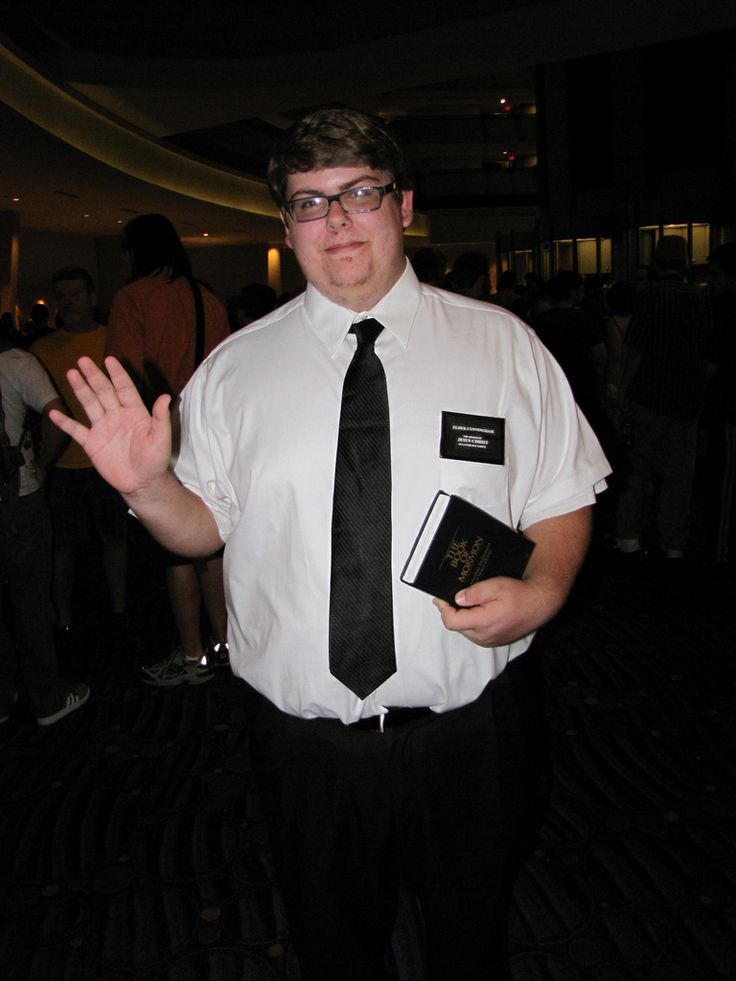 you can wear this costume and man up all over yourself - Mormon Halloween Costumes