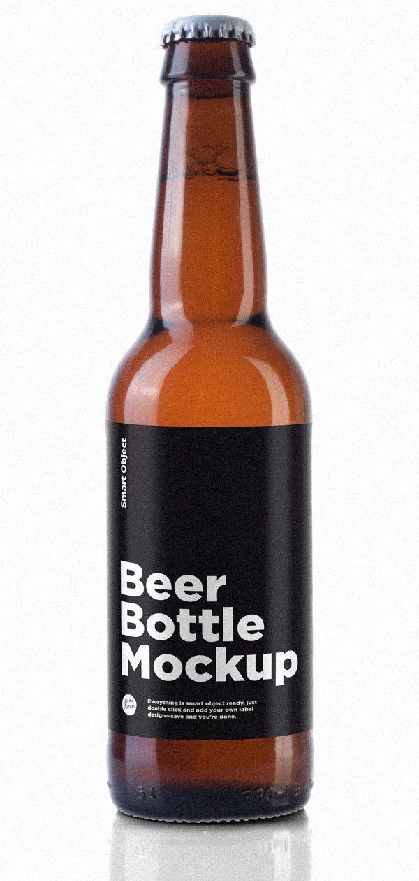 Beer Bottle Mockup Bottle Mockup Beer Beer Label Design