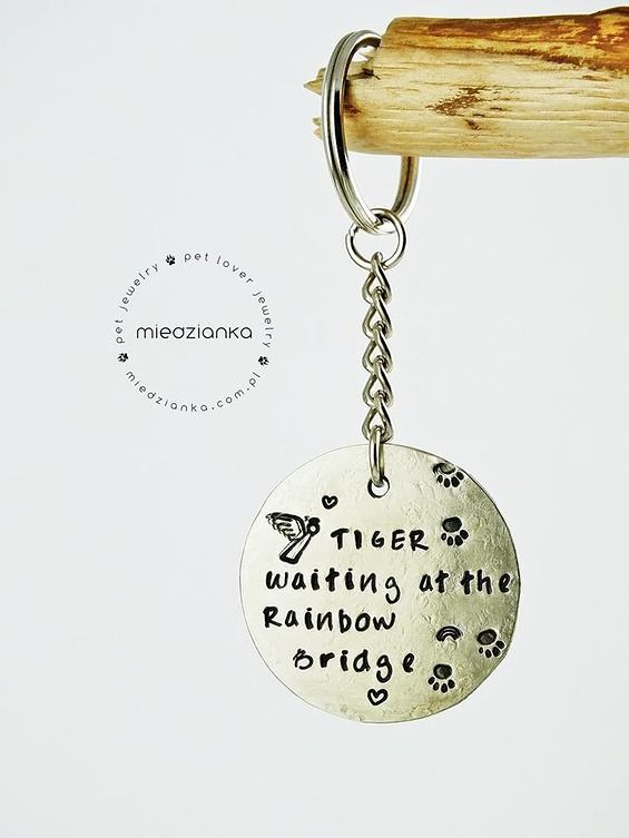 Pet Memorial Jewelry Handstamped with love from Lodz Poland