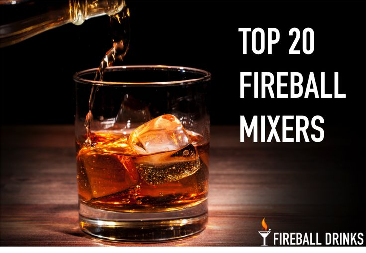 Fireball being poured into a glass