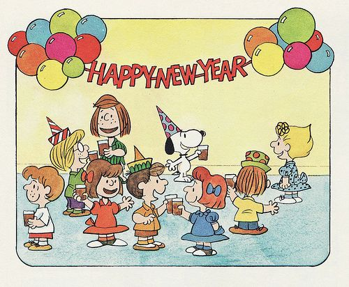 """Happy 2010 from the Peanuts Gang!  Detail from the book, """"Happy New Year, Charlie Brown!"""""""
