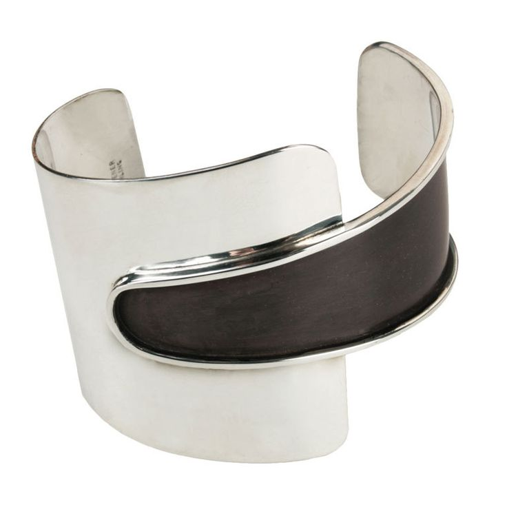 Ed Wiener Modernist Enameled Sterling Bracelet | From a unique collection of vintage cuff bracelets at http://www.1stdibs.com/jewelry/bracelets/cuff-bracelets/