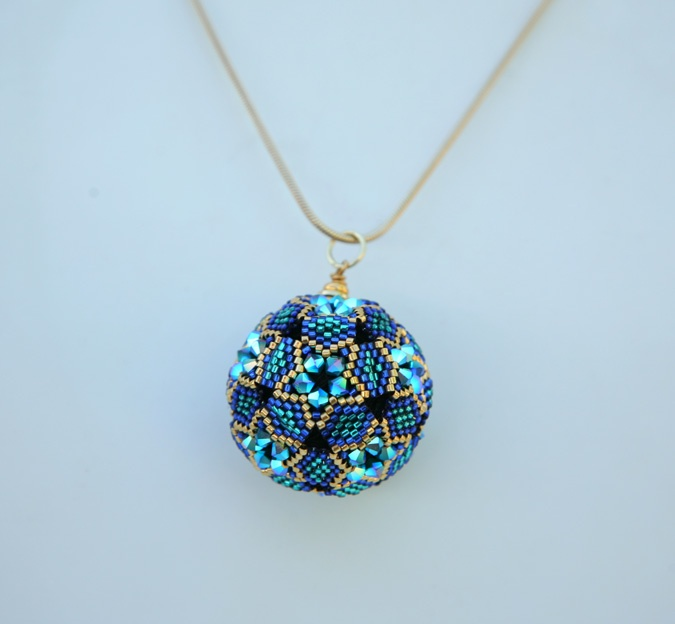 203 best beaded pendants images on pinterest beaded jewelry bead how cool is this starstruck pendant project taught by judy walker the description reads this mystical spherical beaded pendant aloadofball Image collections