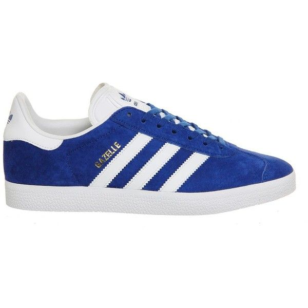 Gazelle Trainers by Adidas ($97) ❤ liked on Polyvore featuring shoes, sneakers, blue, blue shoes, adidas, blue sneakers, adidas sneakers and adidas trainers