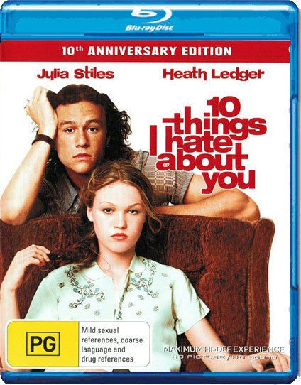 10 Things I Hate About You Blu Ray Brand New Aus Region B