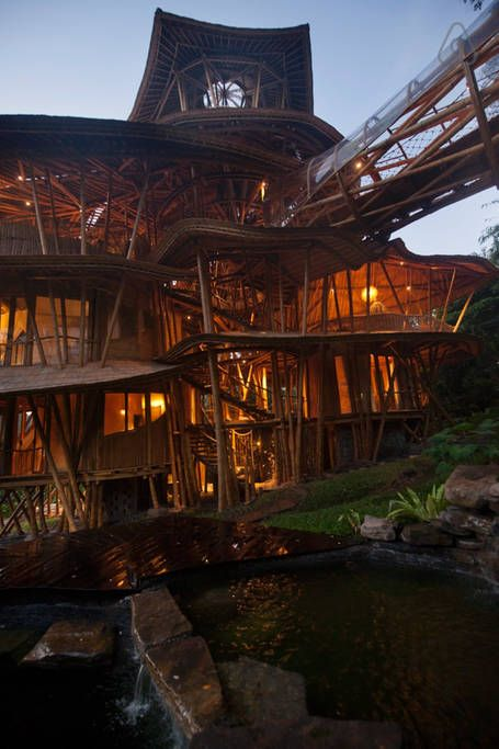 Bamboo palace in Indonesia