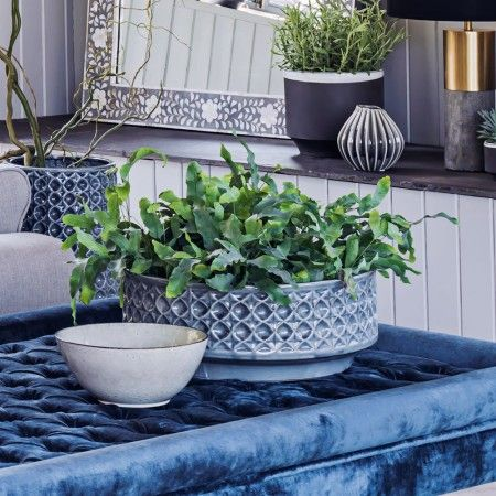 Blue Embossed Bowl - View All Home Decoration - Home Decoration - Home Accessories