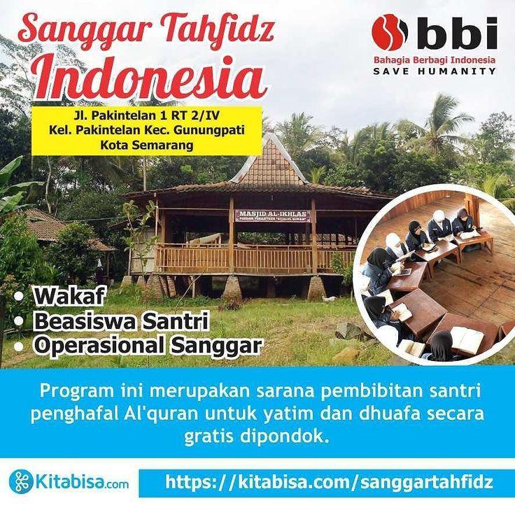 Assalamualaikum Wr. Wb. Yuk bantu sukseskan campaign ini... http://ift.tt/2iKyNzC . .  Program terbaru kami SANGGAR TAHFIDZ INDONESIA (STI) yang insya allah ingin membangun sanggar tahfidz diseluruh indonesia dan kami awali pembangunan sanggar tahfidz di semarang Jawa Tengah. STI masih mempunyai tanggungan pembayaran tanah wakaf serta operasional. Bangunan STI terdiri asrama dan masjid.Bangunan STI didominasi dengan kayu serta berbentuk rumah panggung yang masih sederhananamun semangat untuk…