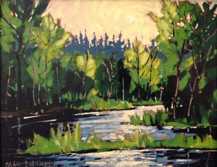 "May Morning, The Cowichan River"" 9"" x 11"" Oil on Board, Mark Brennanat Argyle Fine Art www.argylefineart.blogspot.com"