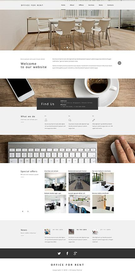 Offices For Rent #website #template. #themes #business #responsive