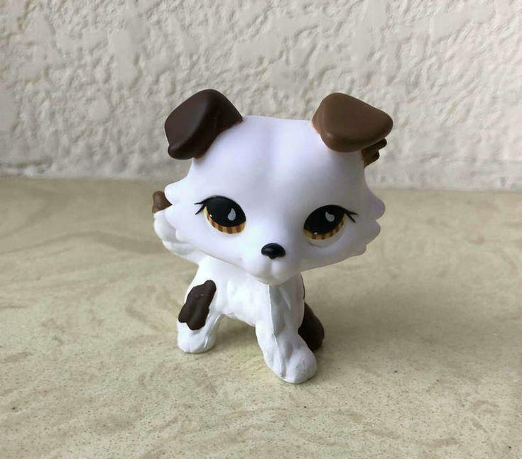 Littlest Pet Shop Custom OOAK LPS Collie Dog White Hand Painted Figure | eBay