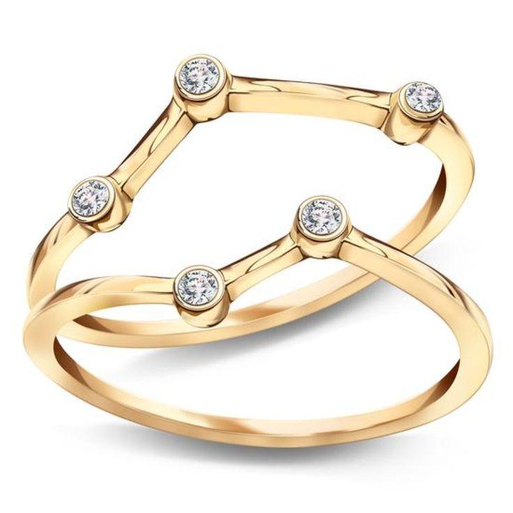 Zodiak - srebrny pierścionek