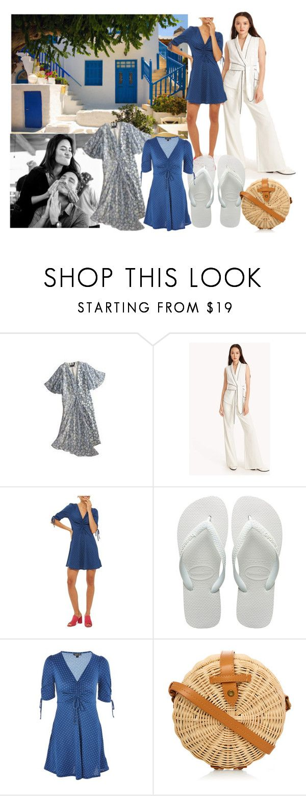 """I Love You To The Beach And Back!"" by farrahdyna ❤ liked on Polyvore featuring Vous Etes, Topshop Unique, Harlot, Topshop and Havaianas"