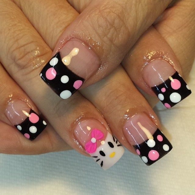 black polka hello kitty Más