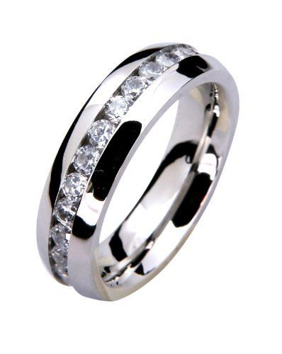 6mm mens wedding engagement band ring stainless steel eternity ring kurji 1999 hypoallergenic - Hypoallergenic Wedding Rings