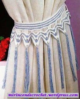 Esta vez algo para decorar la casa..alza paños | Mi Rincon de Crochet