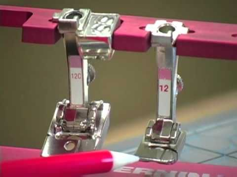 ▶ 15) BERNINA presser feet -- Bulky overlock foot #12/12C - YouTube