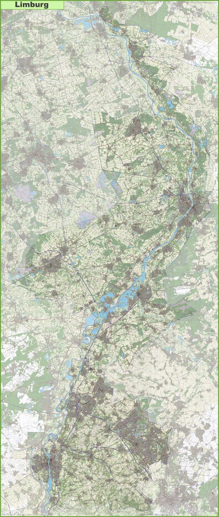 Large detailed topographic map of Limburg  Maps  Pinterest
