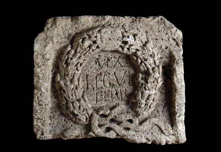 Latin inscription found at Sarmizegetusa Regia, the capital Dacia, 2nd century CE, attesting the presence of a vexillatio of the Legio VI Ferrata, that participated in the Second Dacian War and in the siege of the Dacian city. National Museum of Transylvanian History, Cluj - Napoca